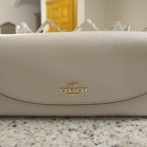 Coach Handbags - COACH Slim Envelope Wallet in Crossgrain Leather